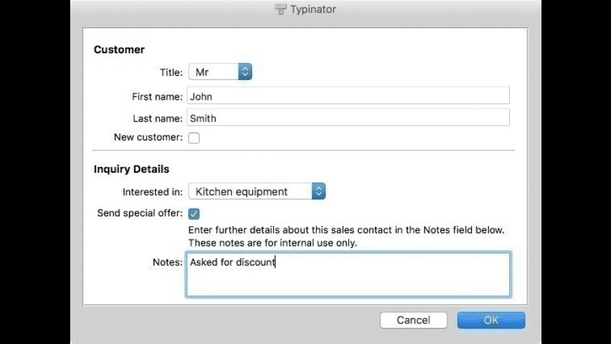 Typinator Family Pack (5 licenses) for Mac - review, screenshots