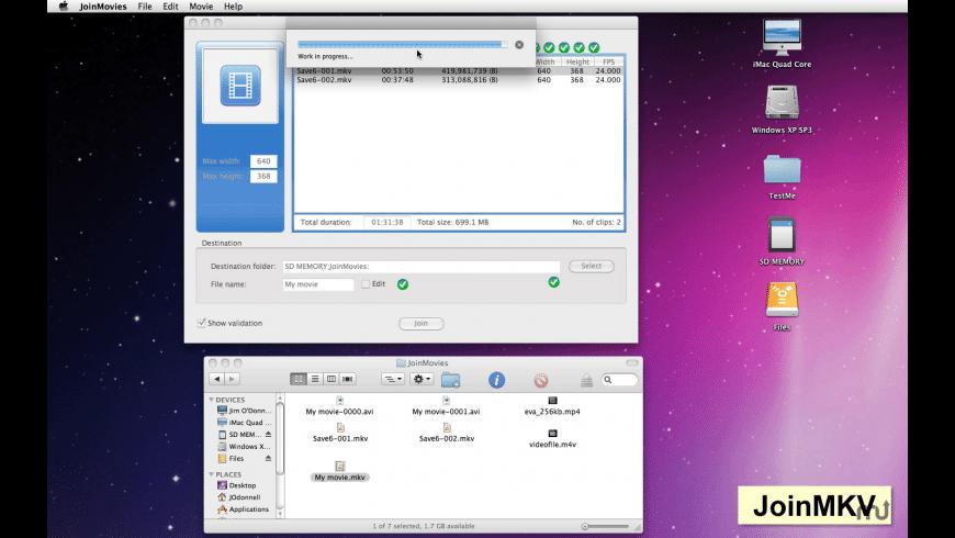 JoinMovies for Mac - review, screenshots