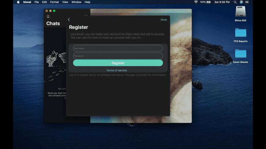 Monal for Mac - review, screenshots