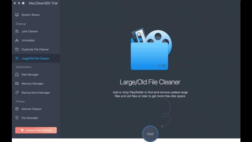 MacClean360 for Mac - review, screenshots