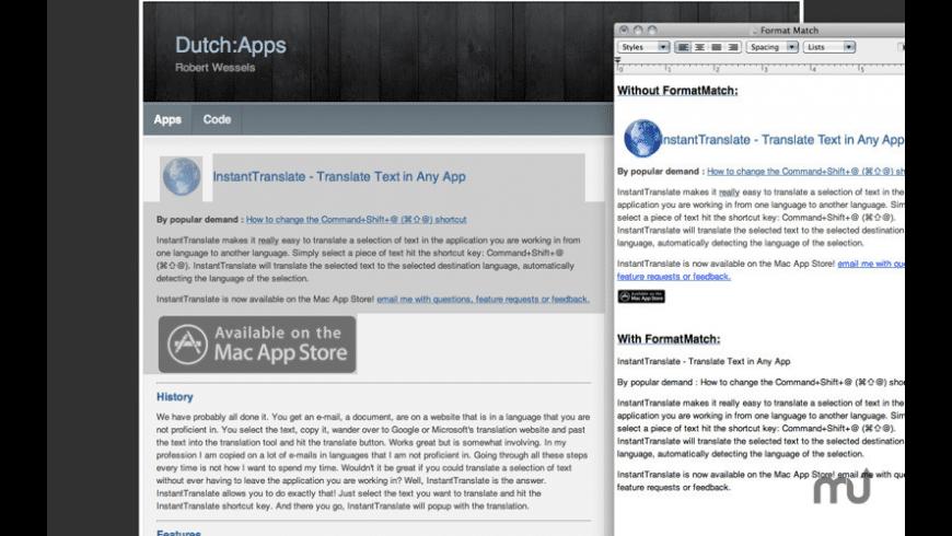 FormatMatch for Mac - review, screenshots