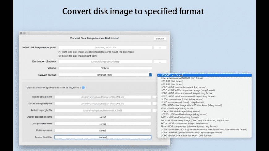 Smart Disk Image Converter for Mac - review, screenshots