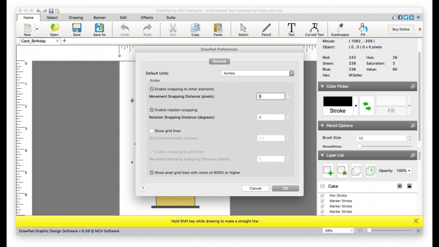 DrawPad Graphic Editor for Mac - review, screenshots