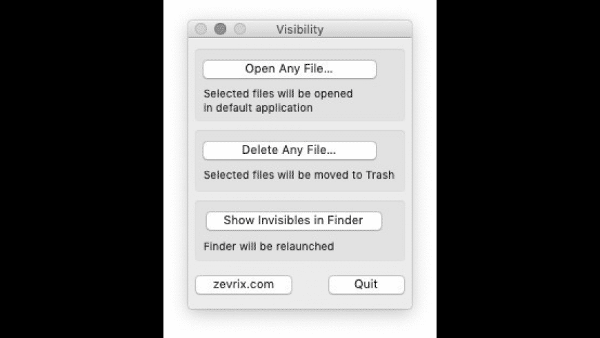 Visibility for Mac - review, screenshots