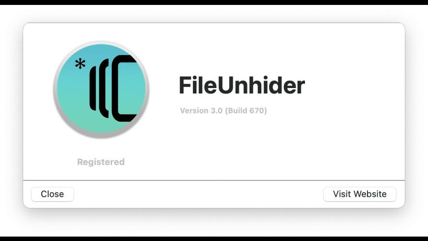 FileUnhider for Mac - review, screenshots
