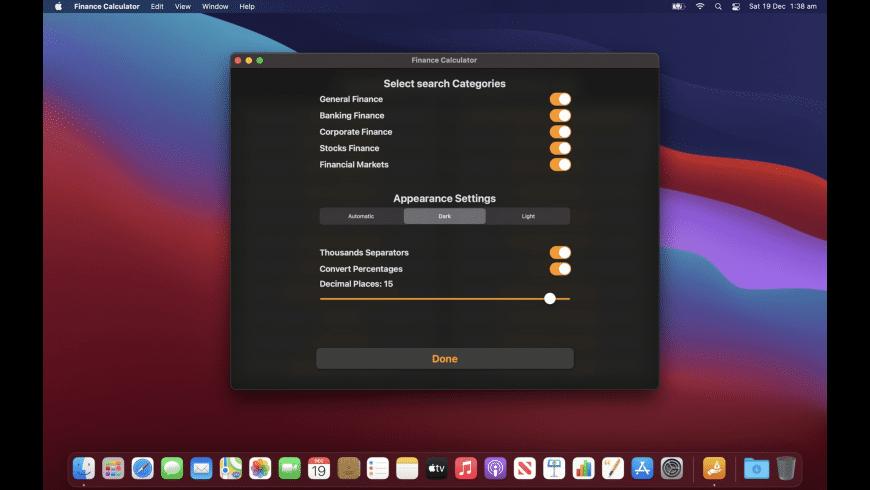 Finance Calculator for Mac - review, screenshots