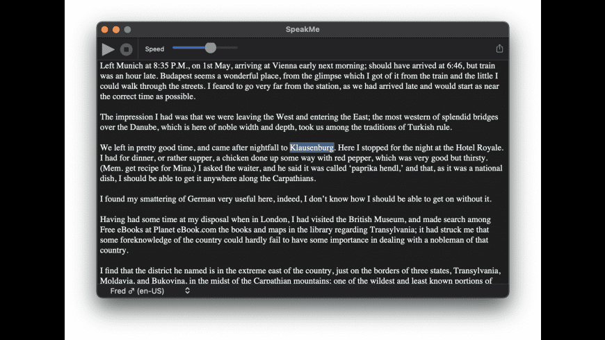 SpeakMe for Mac - review, screenshots