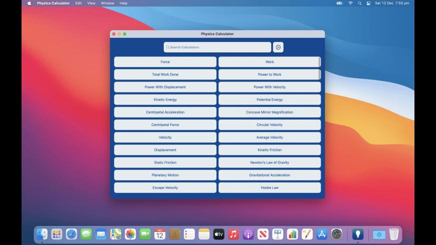 Physics Calculator for Mac - review, screenshots