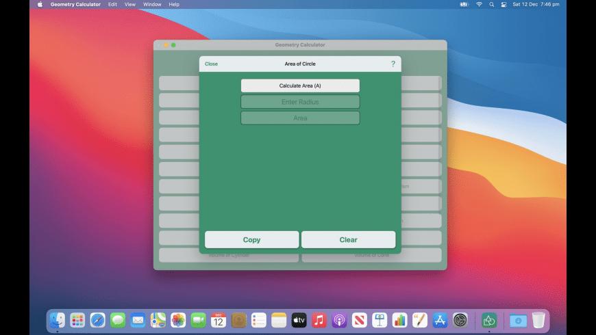 Geometry Calculator for Mac - review, screenshots