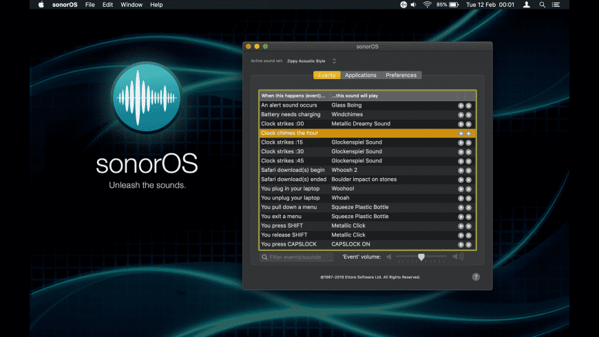 sonorOS for Mac - review, screenshots