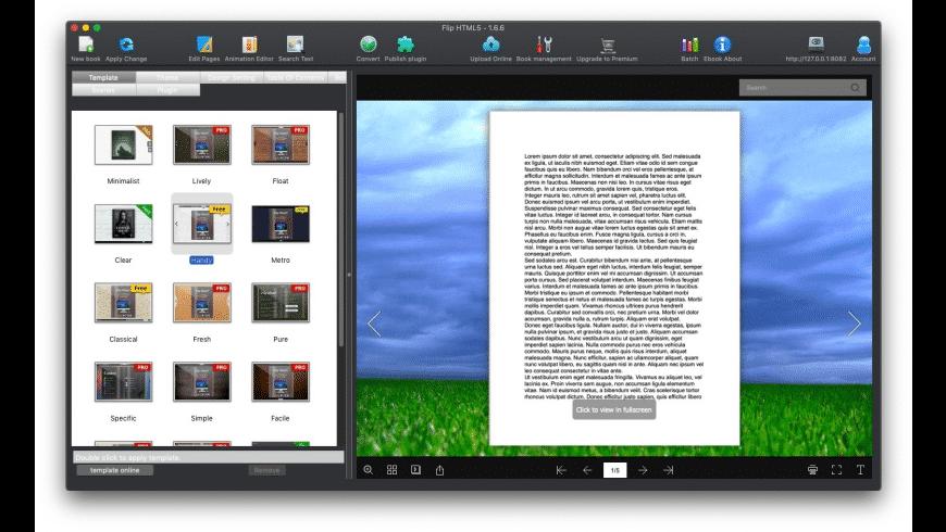 Flip HTML5 for Mac - review, screenshots