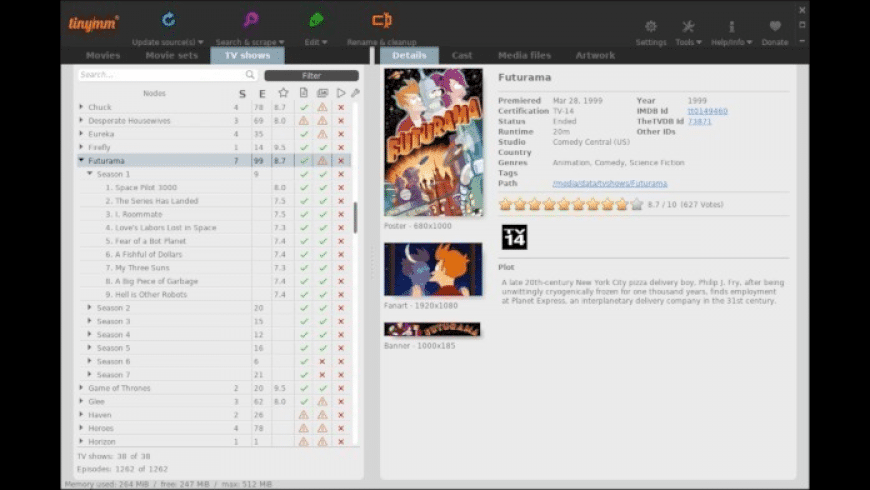 tinyMediaManager for Mac - review, screenshots