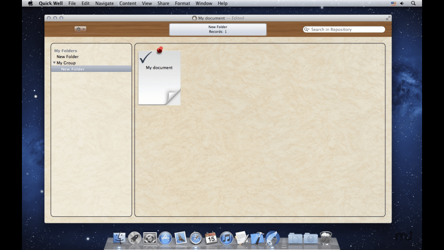 Quick Well for Mac - review, screenshots