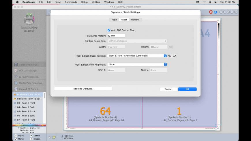 BookMaker for Mac - review, screenshots