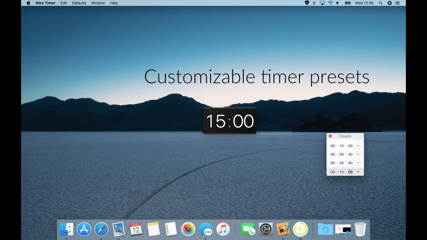Nice Timer for Mac - review, screenshots
