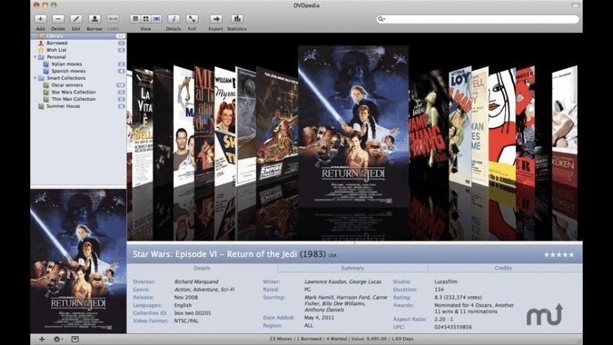 DVDpedia for Mac - review, screenshots