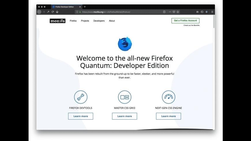 Firefox Developer Edition for Mac - review, screenshots