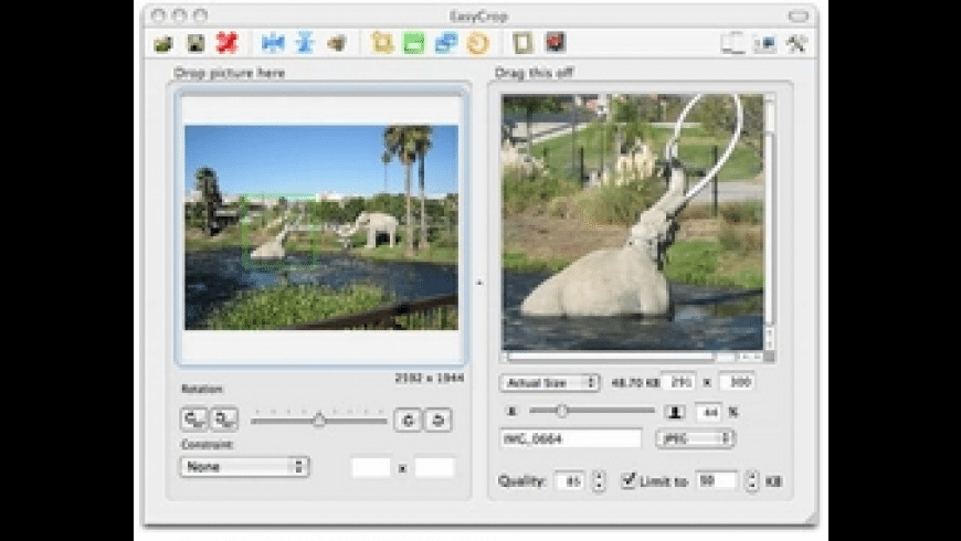 EasyCrop for Mac - review, screenshots