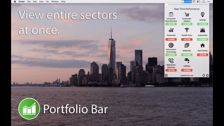 Portfolio Bar for Mac - review, screenshots