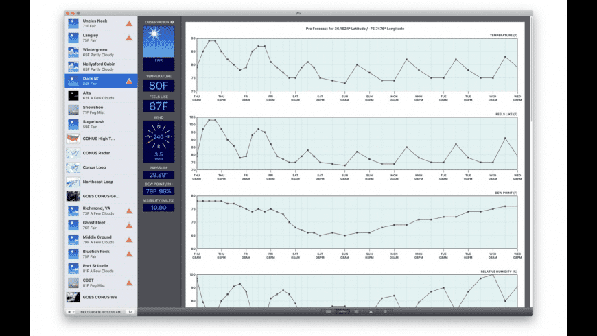 Wx for Mac - review, screenshots
