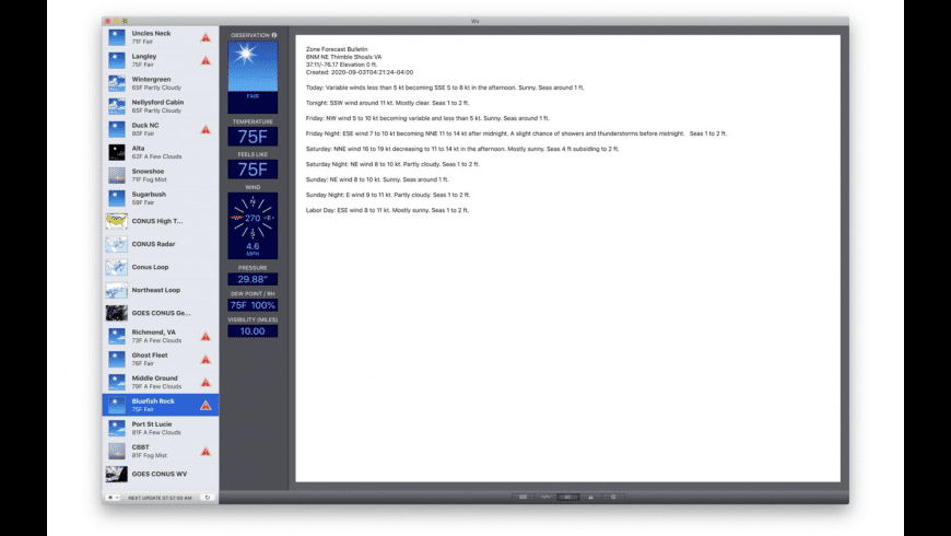 Wx for Mac - review, screenshots
