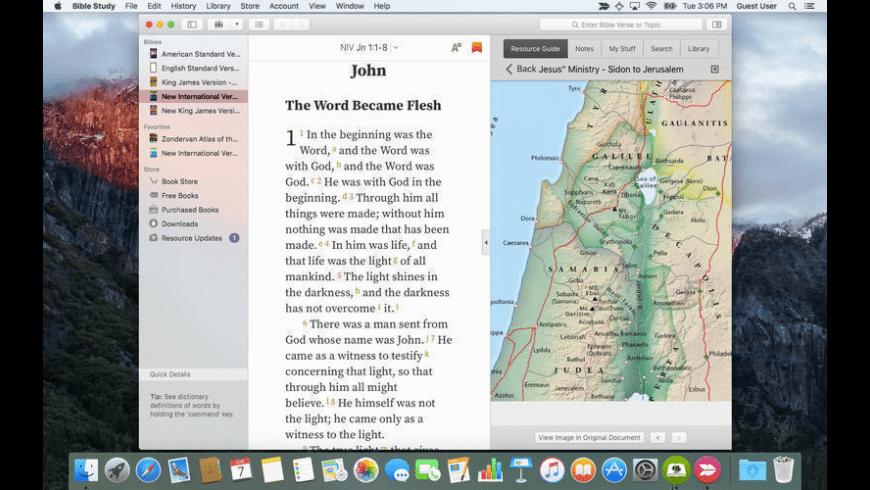Bible Study for Mac - review, screenshots