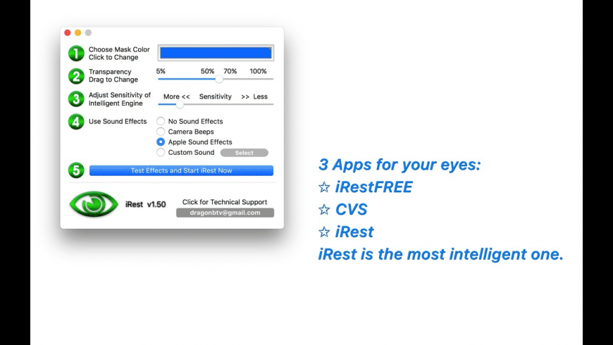 iRest for Mac - review, screenshots