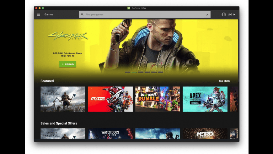 NVIDIA GeForce NOW for Mac - review, screenshots