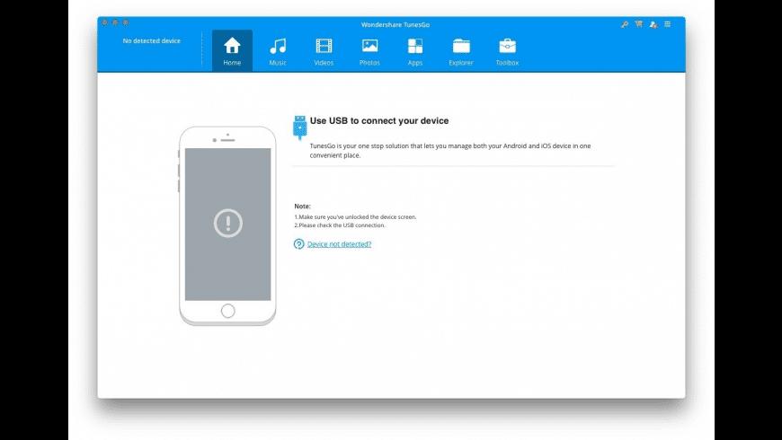 TunesGo for Mac - review, screenshots