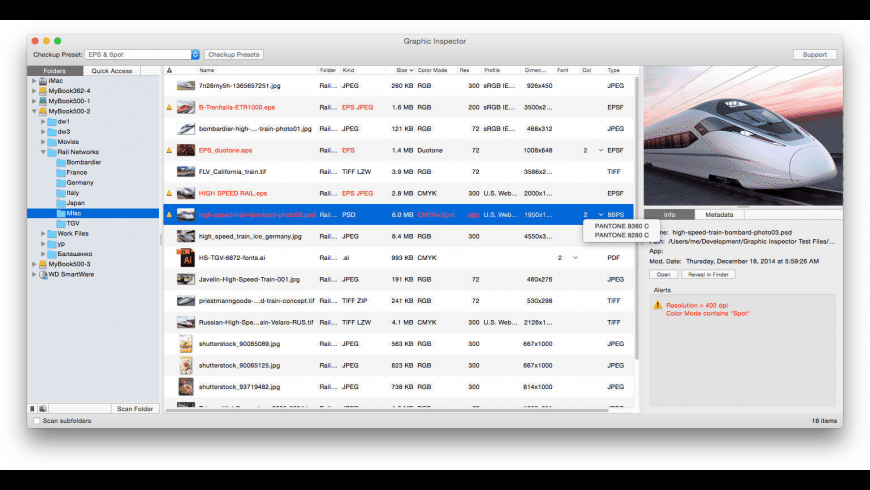 Graphic Inspector for Mac - review, screenshots