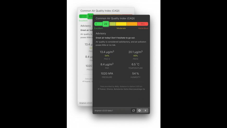 Airqmon for Mac - review, screenshots