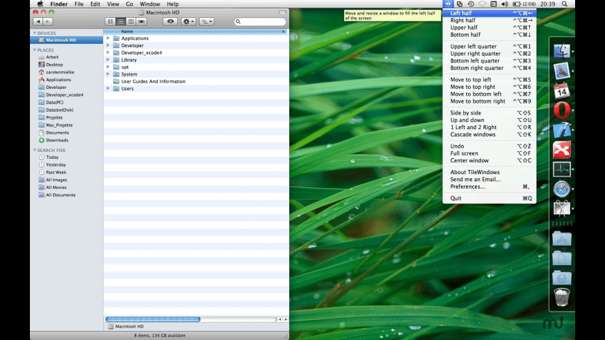 TileWindows for Mac - review, screenshots