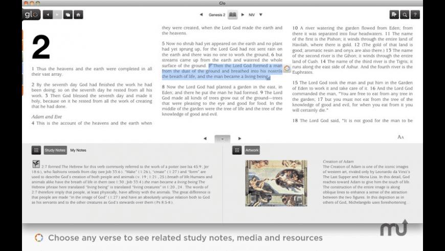 Glo Bible for Mac - review, screenshots