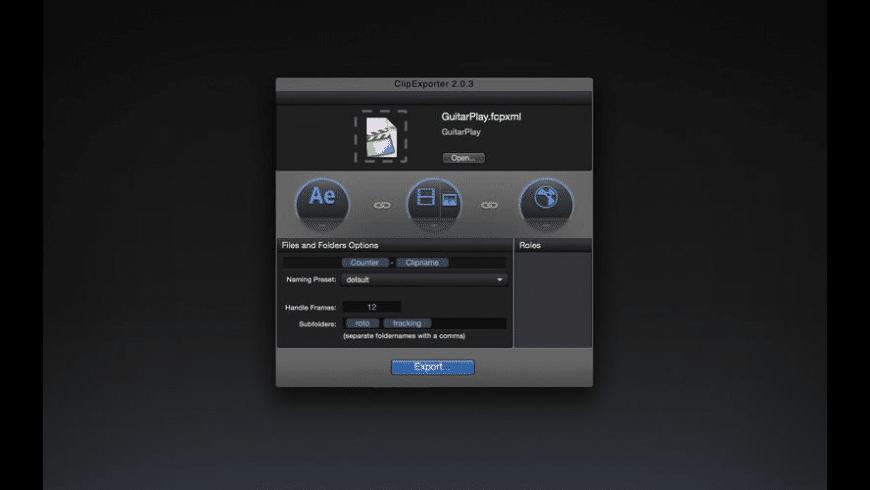 ClipExporter for Mac - review, screenshots