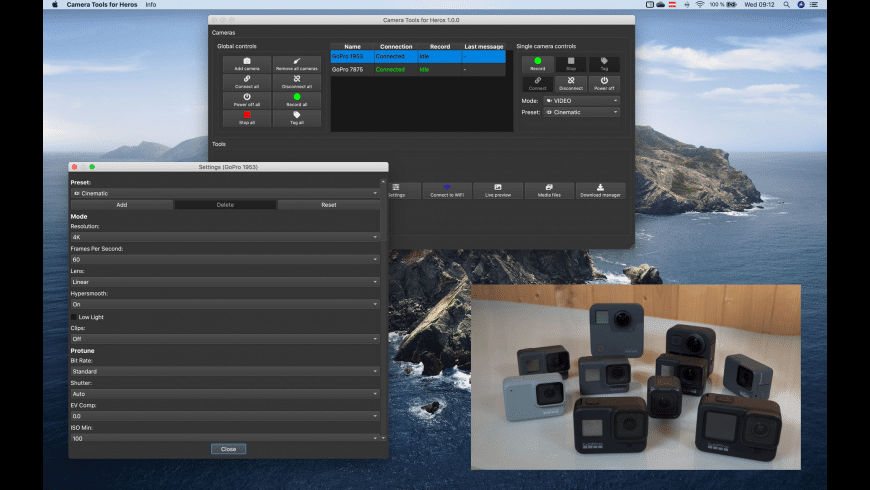 Camera Tools for GoPro Heros for Mac - review, screenshots