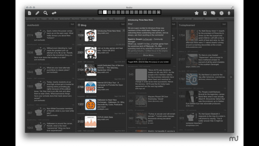 Reditr for Mac - review, screenshots