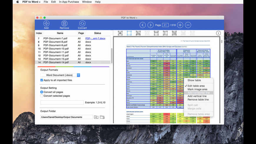 PDF to Word Converter for Mac - review, screenshots