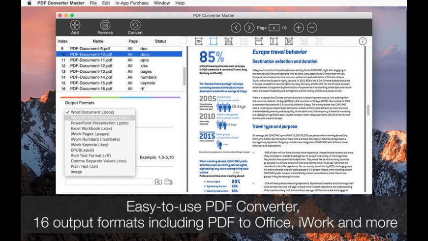 PDF Converter Master for Mac - review, screenshots