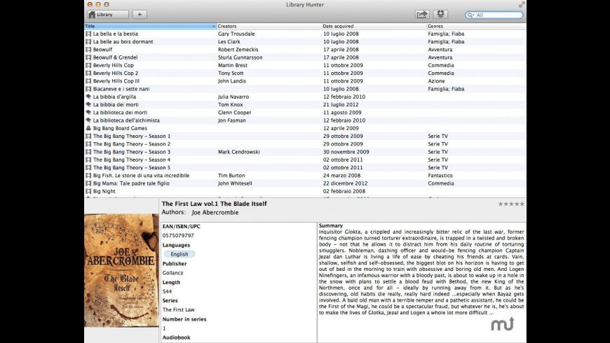 Library Hunter for Mac - review, screenshots