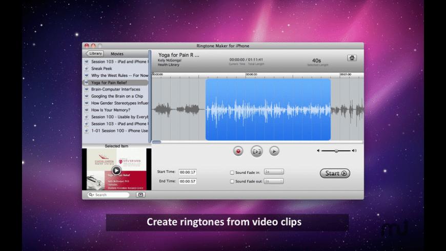 Free Ringtone Maker for Mac - review, screenshots