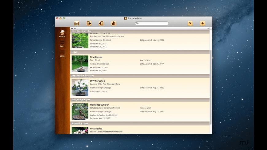 Bonsai Album for Mac - review, screenshots