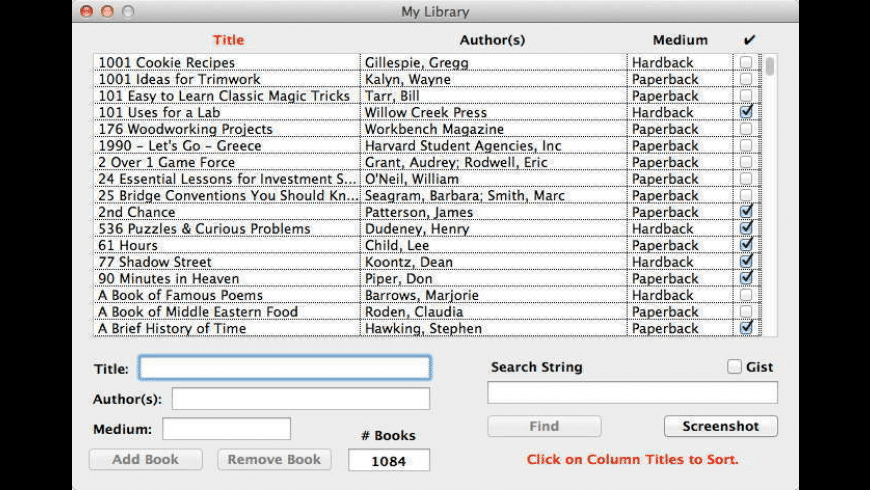 My Library for Mac - review, screenshots