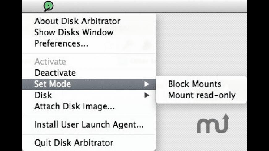 Disk Arbitrator for Mac - review, screenshots