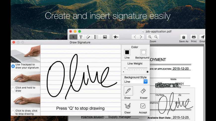 Sign PDF for Mac - review, screenshots