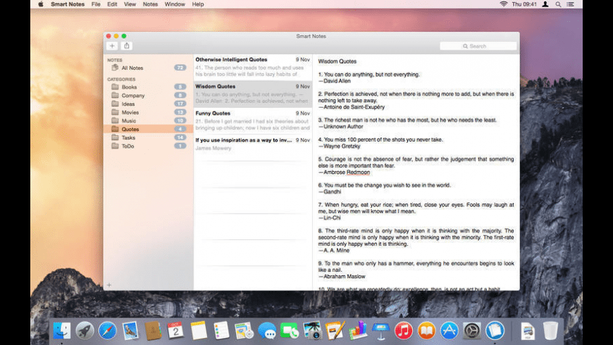 Smart Notes for Mac - review, screenshots