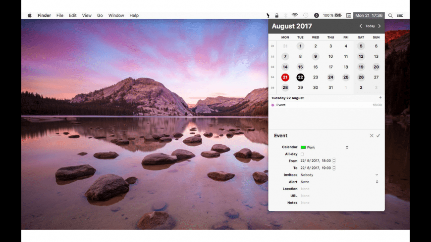 popCalendar for Mac - review, screenshots