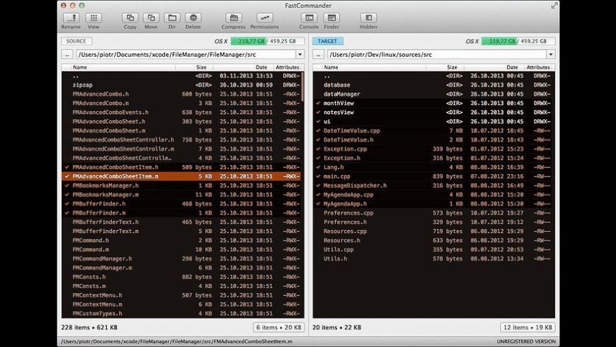 FastCommander for Mac - review, screenshots