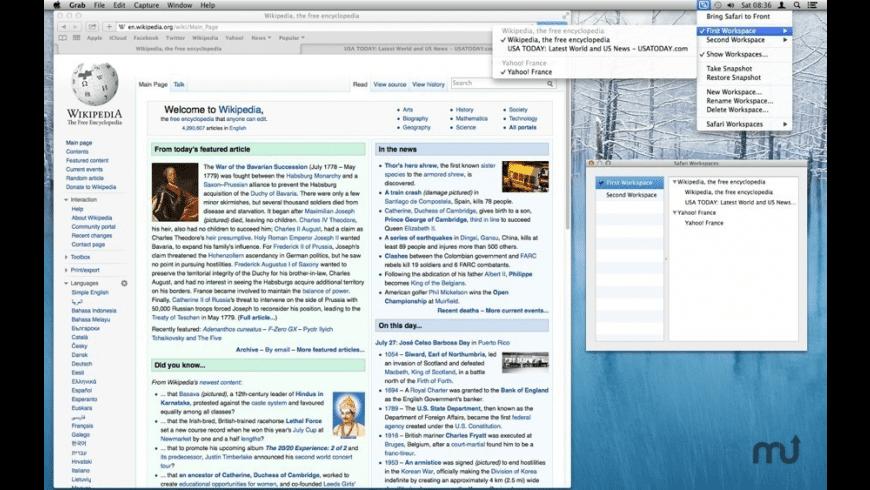 Safari Workspaces for Mac - review, screenshots