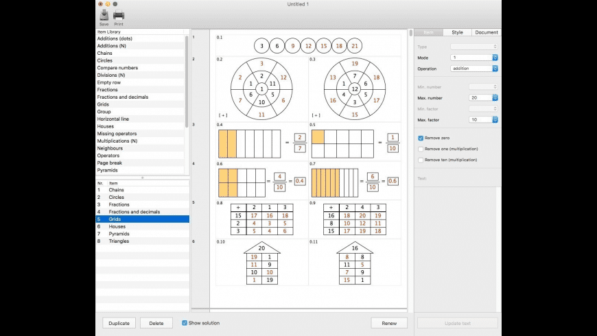 NP Worksheets for Mac - review, screenshots