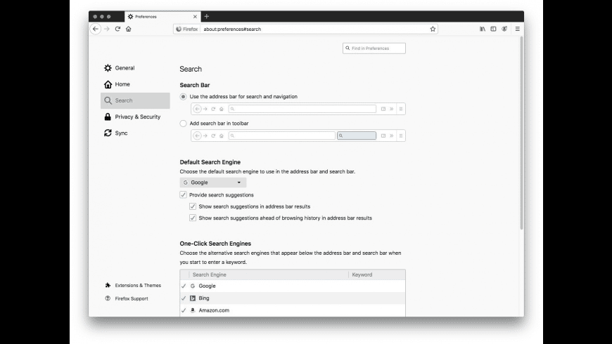 Firefox for Mac - review, screenshots